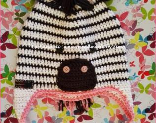 ... ispirato a Uomo Ragno Spiderman. € 20.00. Cappellino a uncinetto a  forma di Zebra per bambino o bambina af6c2e3c612a