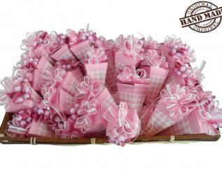 Set 30 porta confetti BOMBONIERE per nascita o battesimo bambina