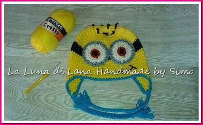 Cappello Uncinetto Per Bambini A Forma Di Minions
