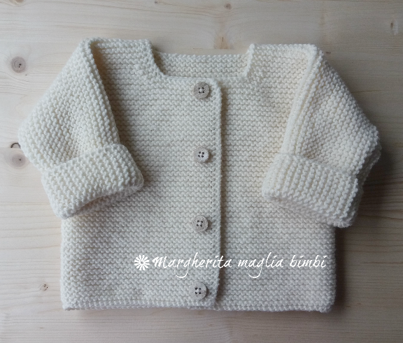Giacchino cardigan maglioncino aperto neonato bambino fatto a mano - lana  merino - Battesimo 4e6b9908f23c