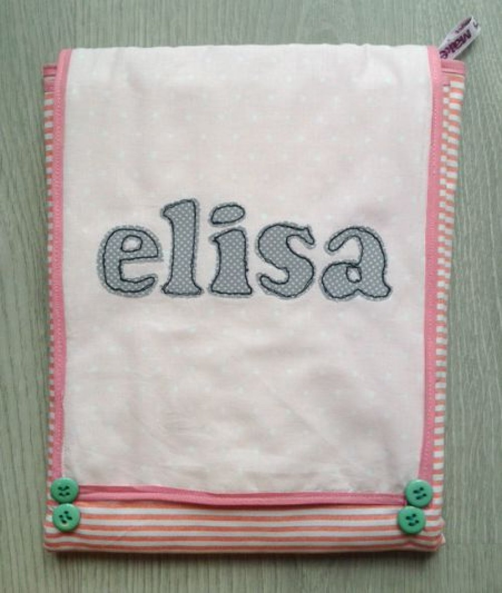 Fasciatoio da viaggio per il cambio del bebè: ottima idea per regalo nascita o battesimo, morbido cotone con stoffe e nome personalizzabili