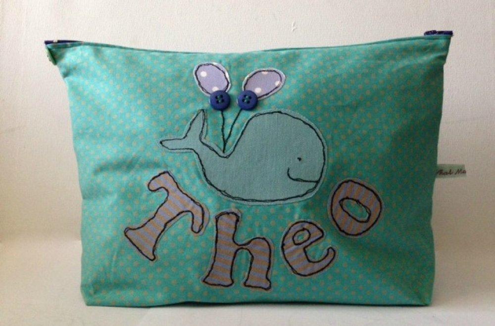 Porta pannolini personalizzabile, astuccio porta tutto per bambini e neonati