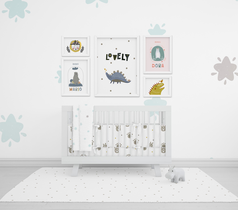 Poster, quadretti nascita e bandierine per decorare la camera dei bambini