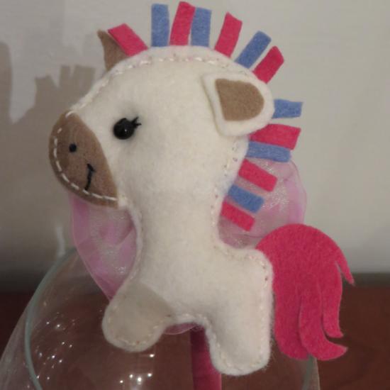 cerchietto bimba con  unicorno