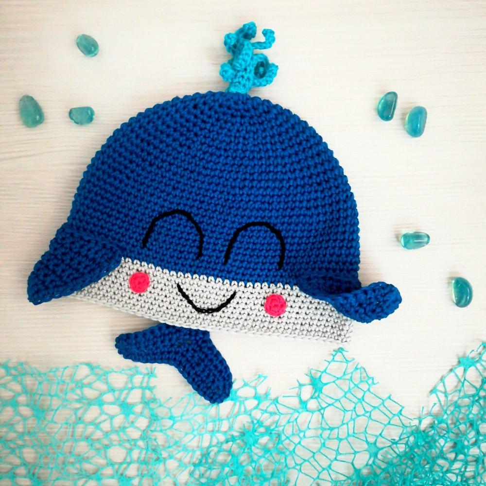 Berretto balena in cotone