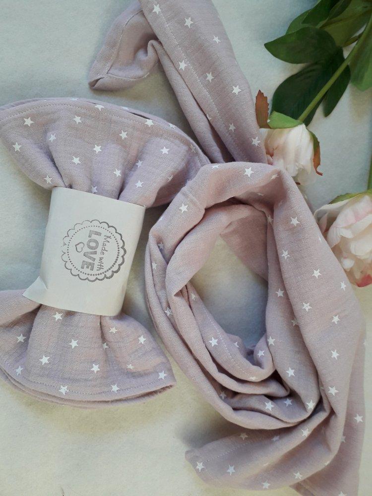 Sciarpa in mussola di cotone a stelle