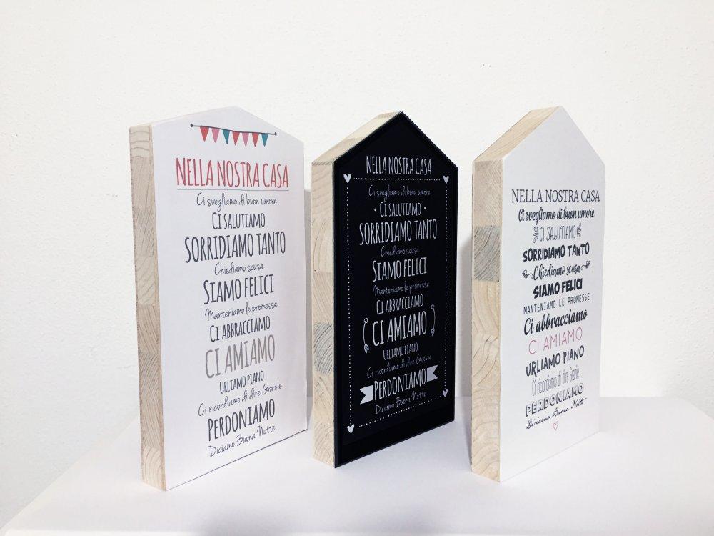 Quadretto in legno - Idea regalo - Con frasi famiglia