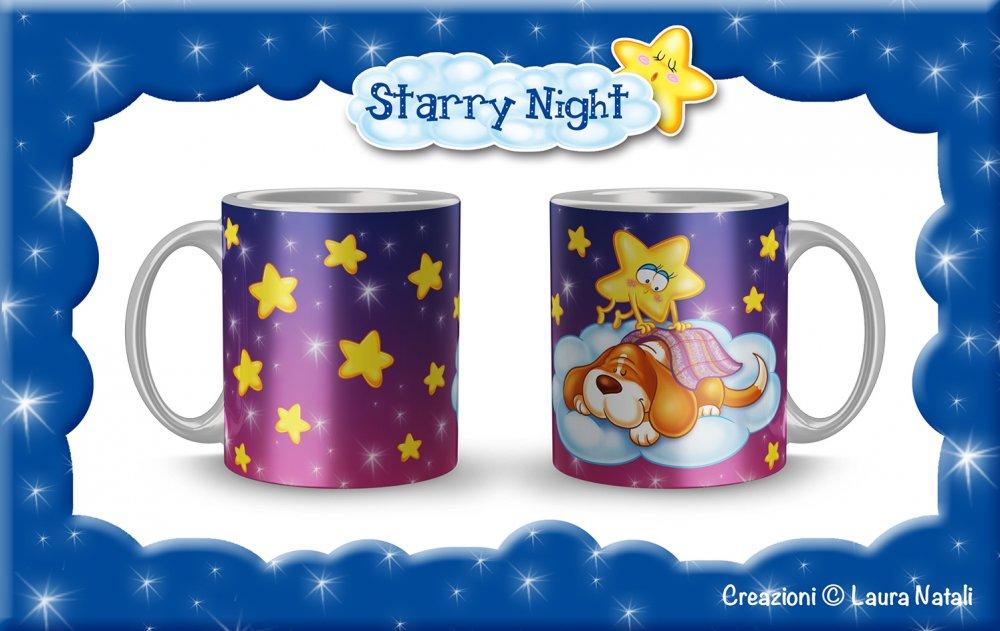 Tazza Starry Night - Geremia Nanna - Bassethound
