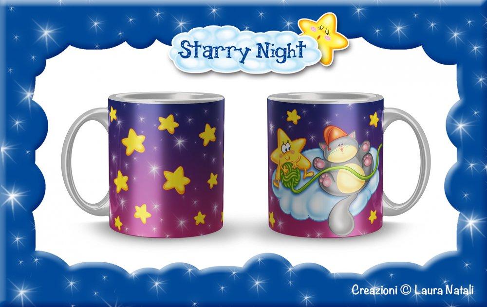 Tazza Starry Night - Micio Nanna - Gattino