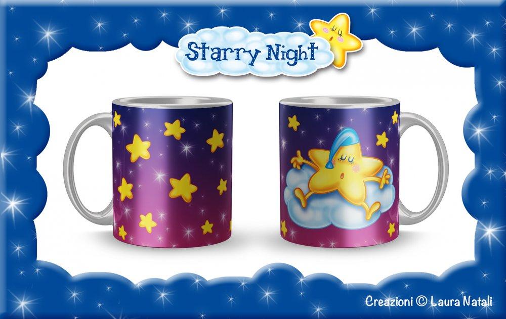 Tazza Starry Night - Stellina Blu