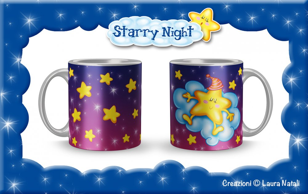 Tazza Starry Night - Stellina Rossa