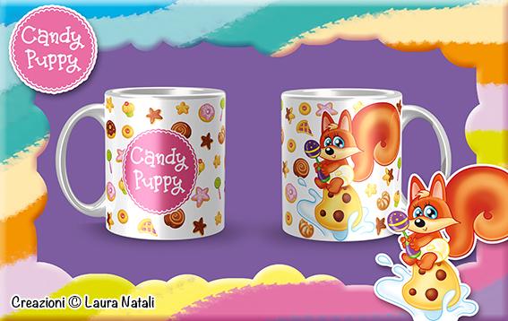 Tazza con Volpina Candy Puppy