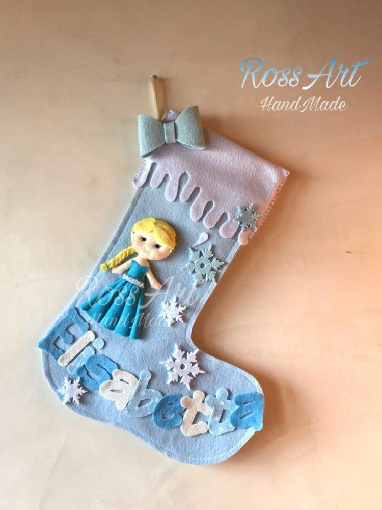 Calze della befana natalizie personalizzabili Frozen