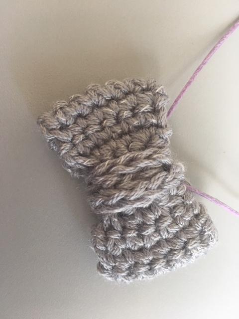 collana fiocco - uncinetto