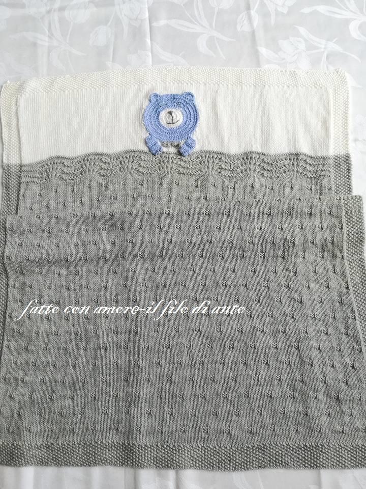 Copertina culla in pura lana merinos 100% /corredino neonato