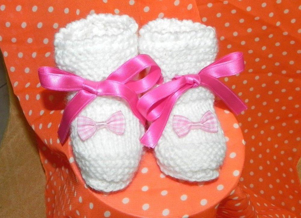 Scarpette baby in lana