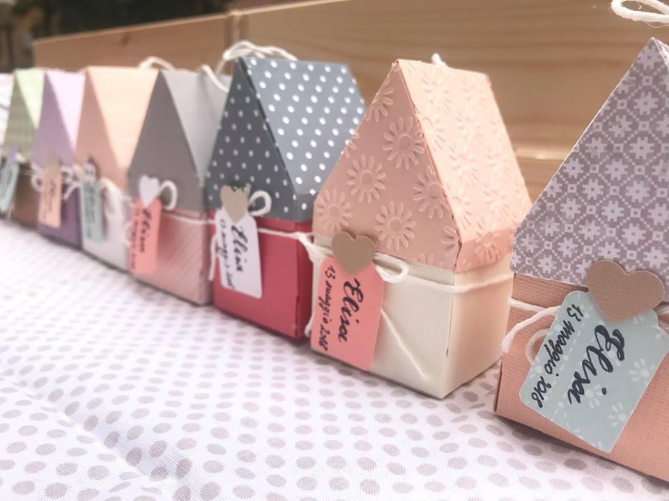 Casette di carta, scatoline bomboniere