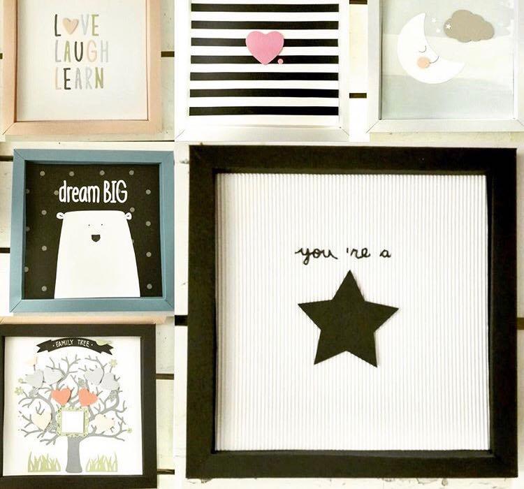 Cornici di carta, illustrazioni home decor