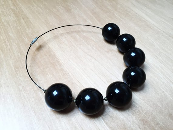 Collana di perle in vetro soffiato