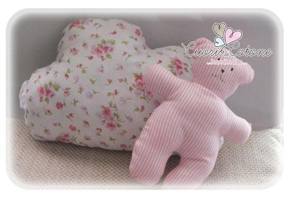set cuscino nuvola e orsetto My first Teddy