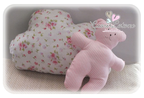 set cuscino nuvola e orsetto My first Teddy