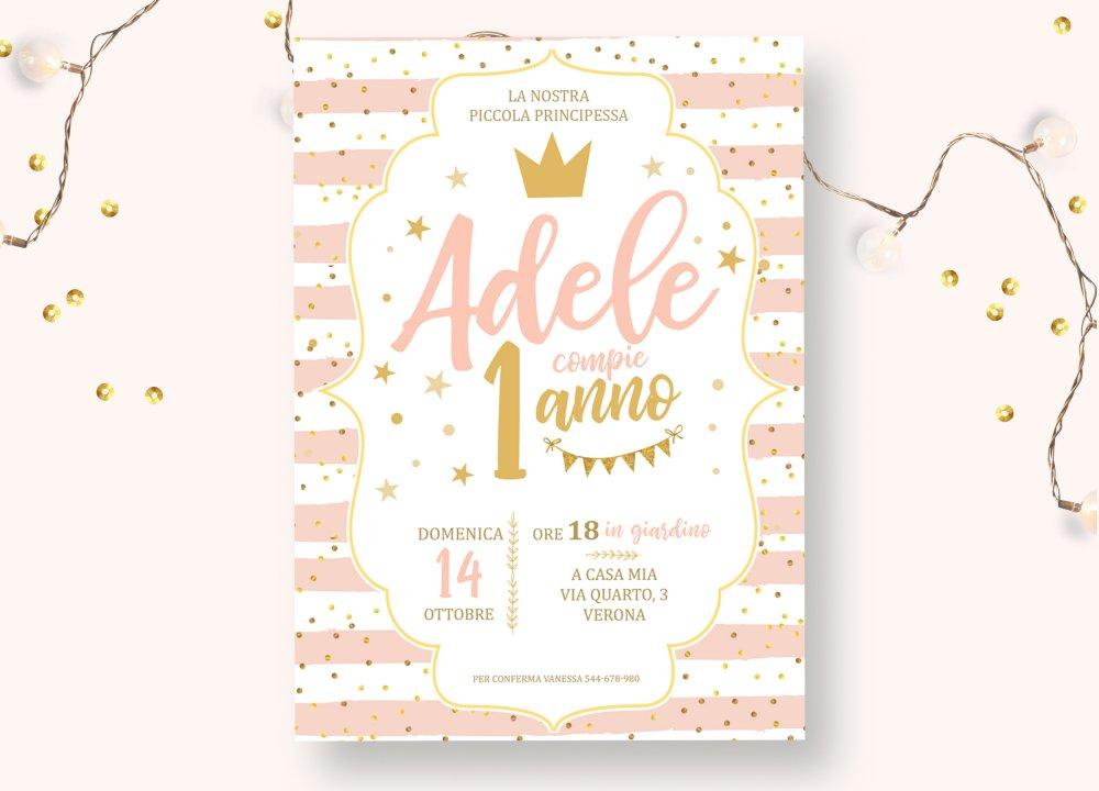 Invito  festa di compleanno principessa