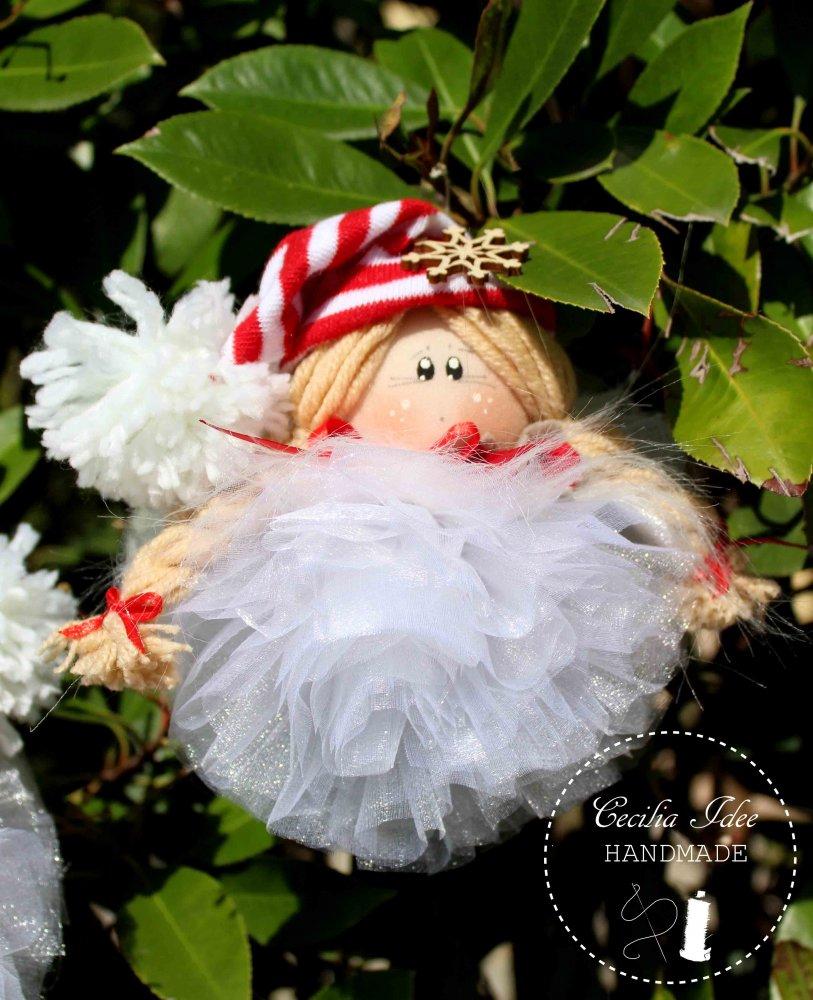 Bamboline pom pom - Natale