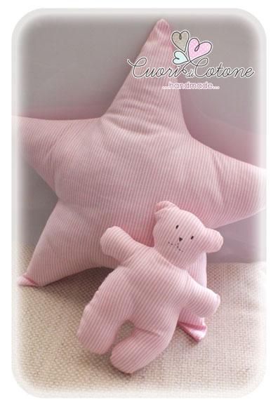 set cuscino stella e orsetto