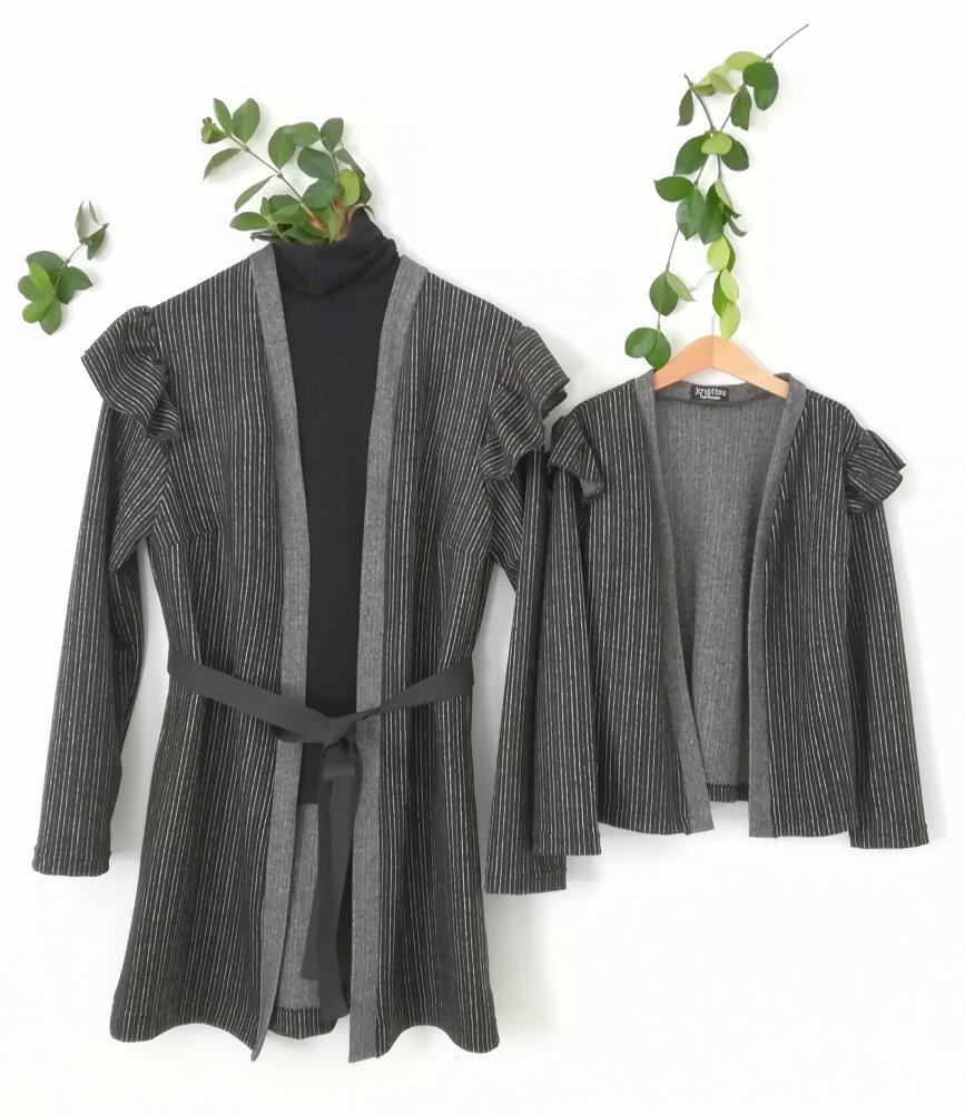 Cardigan modello kimono Mamma e figlia in coordinato