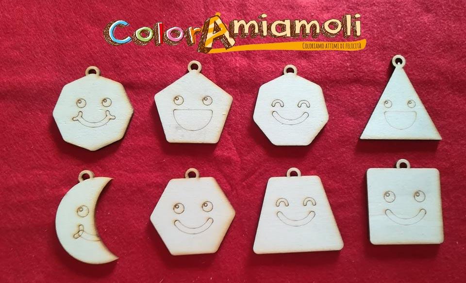 Gioco in legno forme geometriche da colorare per imparare divertendosi ColorAmiamoli