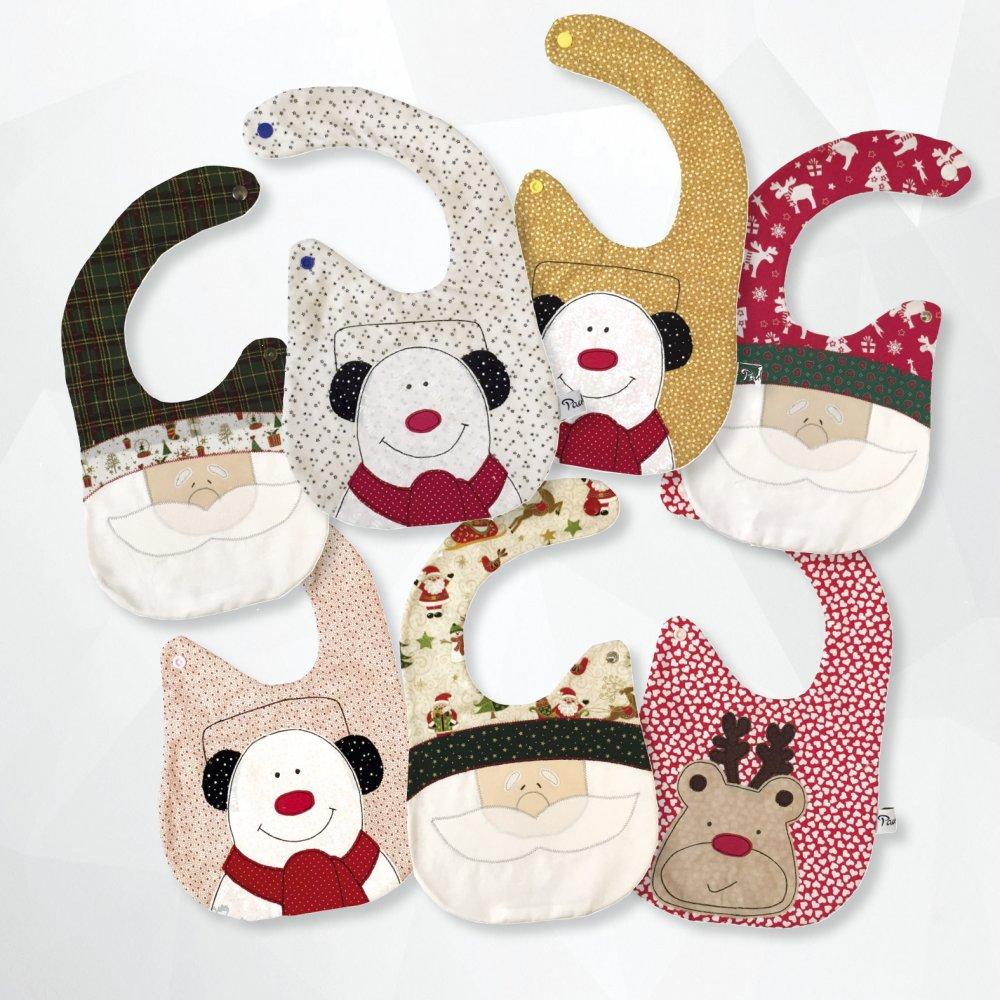 Bavaglino baby - bavaglino natalizio - baby bib