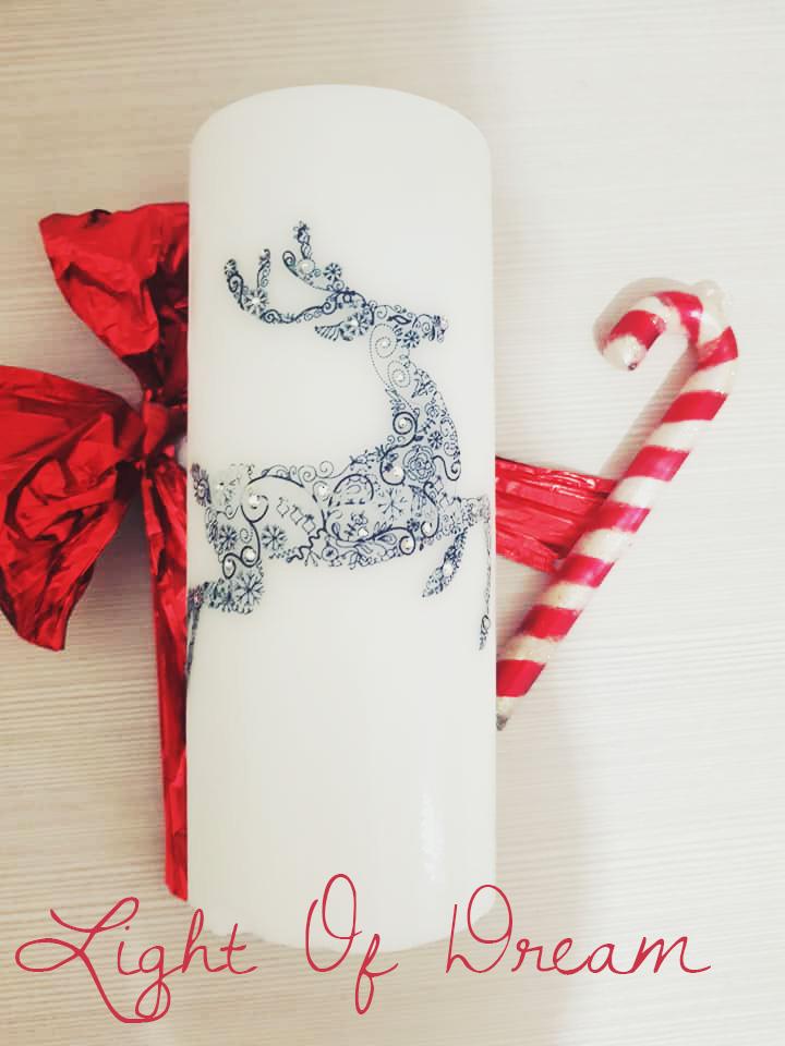 Candele decorative per la cameretta  e la casa Natalizie