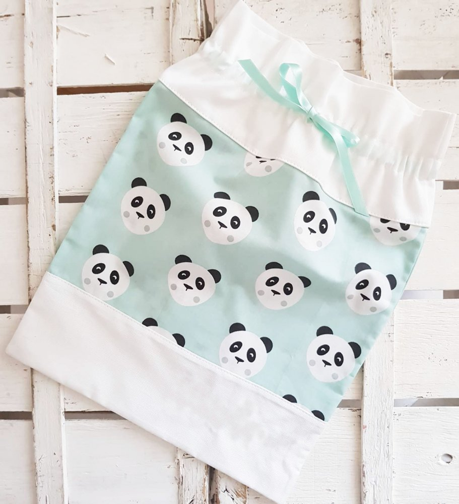 Sacche nascita- nascita- sacca nascita- sacca-primo cambio set nascita set asilo panda pois- handmade- baby shower- baby gift- fatto a mano