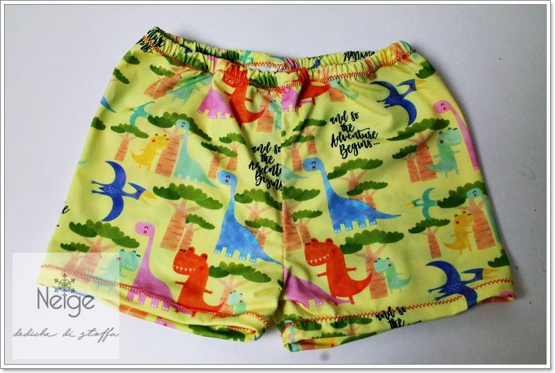 Costume-Boxer PRONTA CONSEGNA Dinosauri