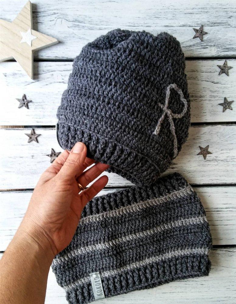 sito ufficiale scarpe autunnali prezzo ridotto Completo cappello più scaldacollo in lana, personalizzato con iniziale