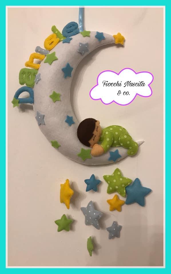 Fiocco nascita bambino tra le stelle