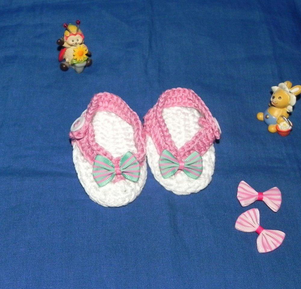 Sandali infradito bebè in cotone Da 1 4 mesi