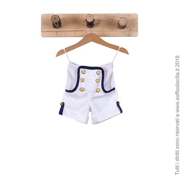 Pantaloncino corto stile marinaio