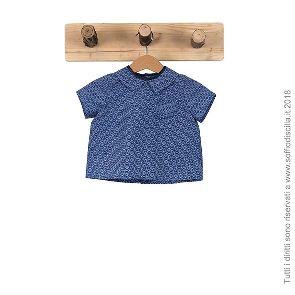 Camicia da bambino con maniche corte