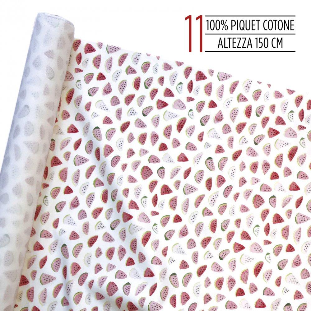 Tessuto 100% piquet di cotone