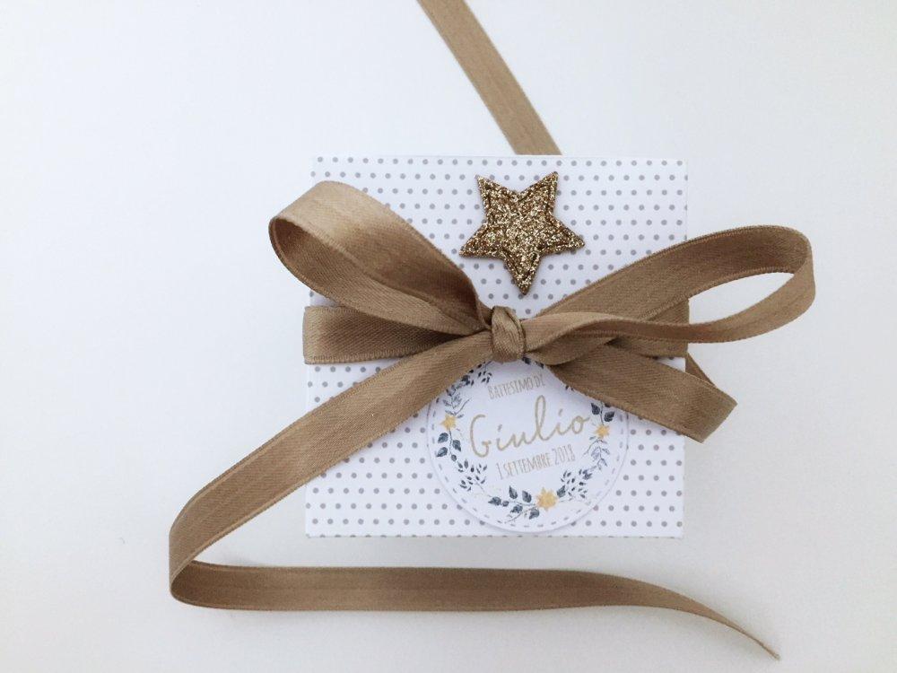 Scatoline quadrate in cartoncino porta confetti o piccoli doni