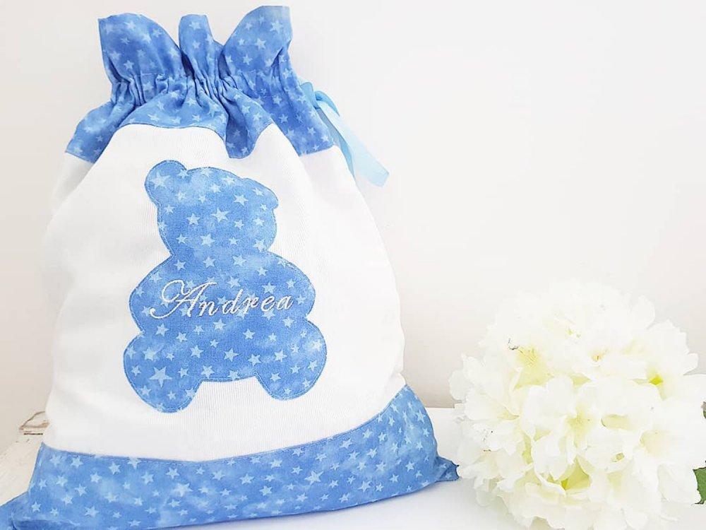Sacche cambio- sacca nascita- sacca primo cambio- set nascita - sacchetto cambio- set asilo - handmade -baby shower- baby gift- fatto a mano