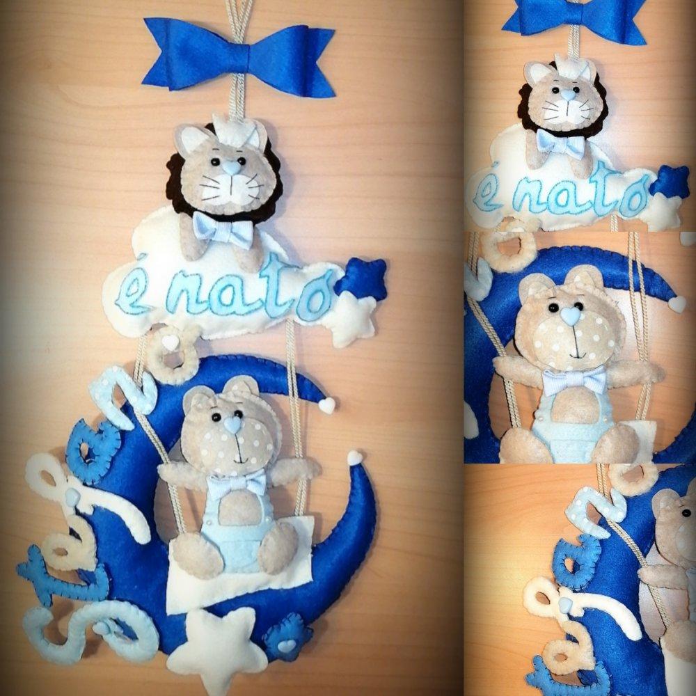 Fiocco nascita personalizzato handmade