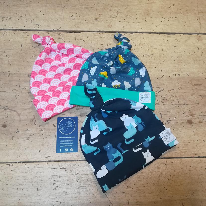 Cuffietta neonato in jersey di cotone