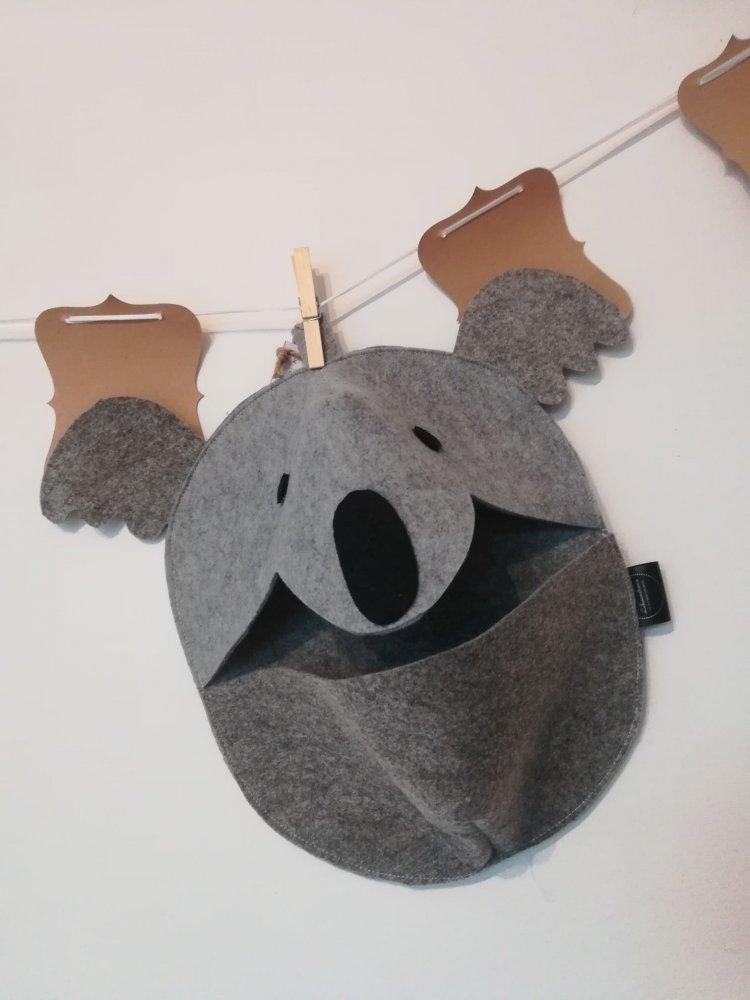 Koala Egidio, testa di animale da appendere