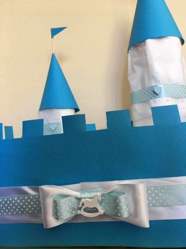 Torta di pannolini castello
