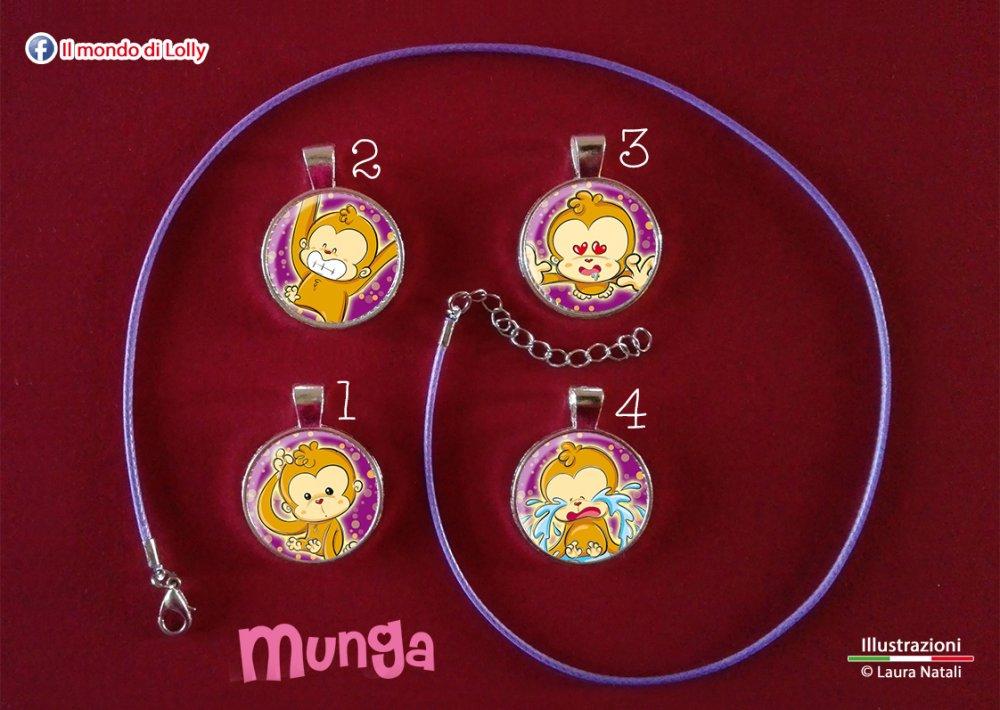 Munga Bijoux - ciondolo cameo argento placcato