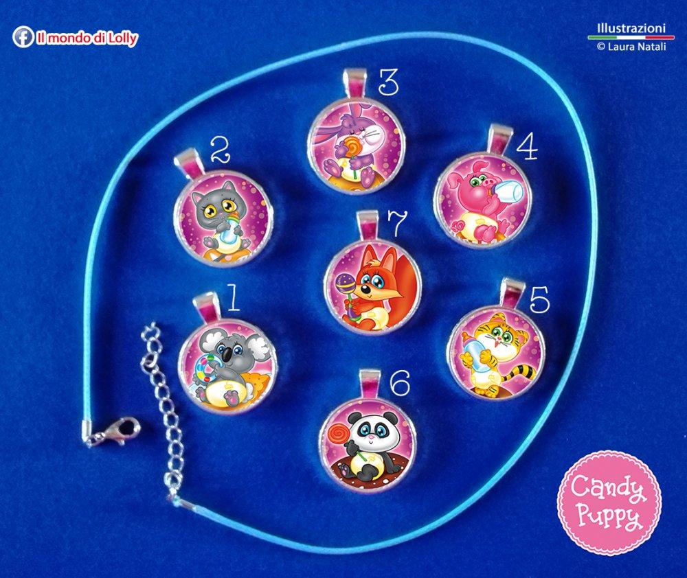 Candy Puppy Bijoux - ciondolo cameo argento placcato