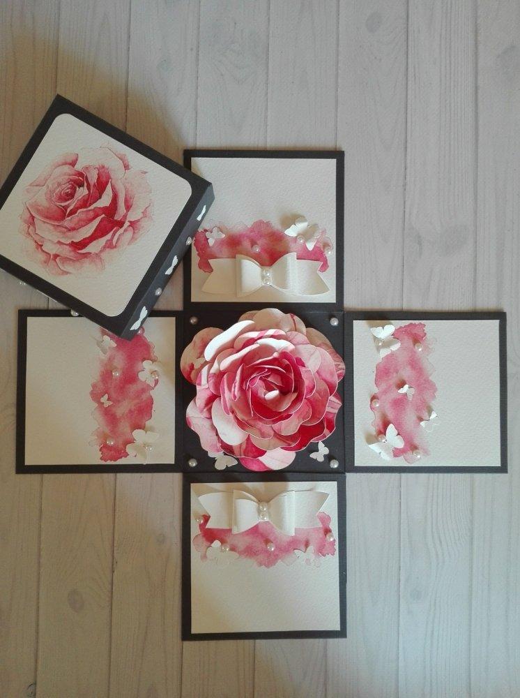 Explosion box floreale per la festa della mamma