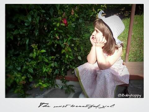 vestito per bimba retro/vintage in cotone stampato